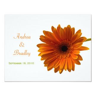 Orange Gerbera Daisy Response Card 11 Cm X 14 Cm Invitation Card