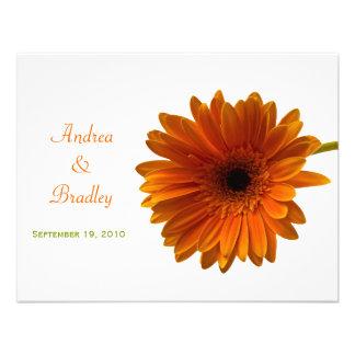 Orange Gerbera Daisy Response Card Personalized Invitations