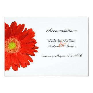 Orange Gerbera Daisy Wedding Accomodations Card Announcements