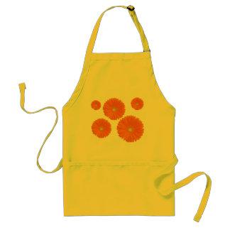 orange gerbera flower apron