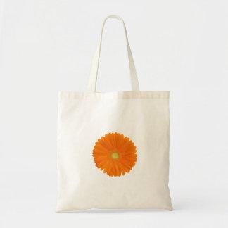 orange gerbera flower bag