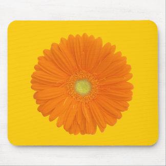 orange gerbera flower mousepad