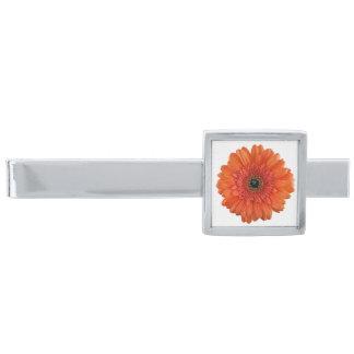 Orange Gerbera Gerber Daisy Flower Wedding Tie Clip