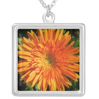 Orange Gerbera Necklace