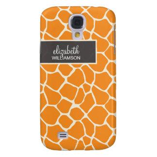 Orange Giraffe Pern Galaxy S4 Case