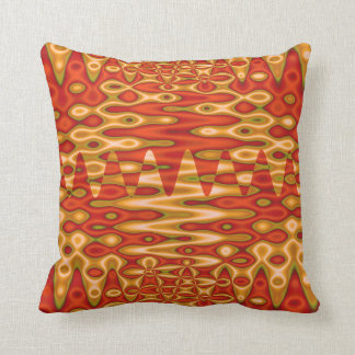 orange gold abstract pillow