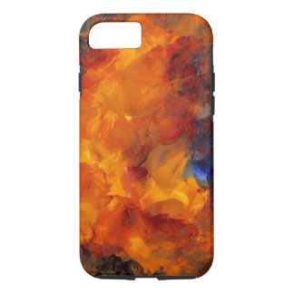 Orange Gold Abstract Flames Art iPhone Case