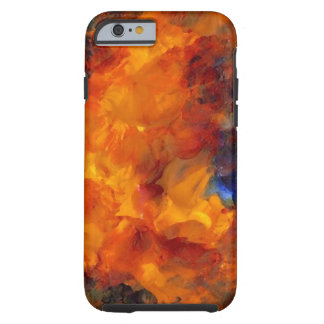 Orange Gold Abstract Flames Art iPhone Case Tough iPhone 6 Case