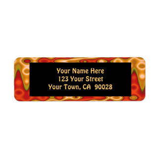 orange gold abstract return address label