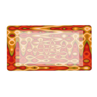 orange gold abstract shipping label