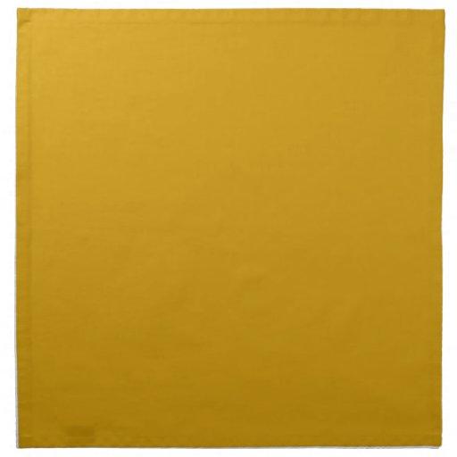 Orange Gold Background on a Napkin
