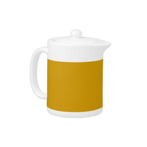 Orange Gold Background on a Teapot