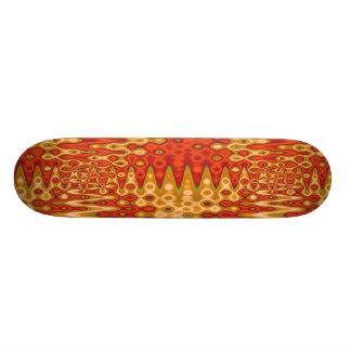 orange gold ripples custom skate board
