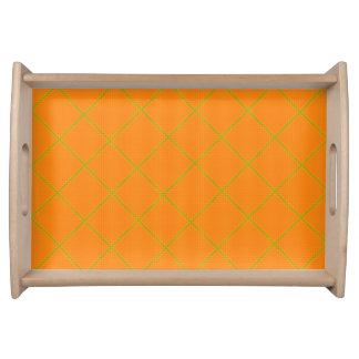 Orange Gold Texture Serving Tray
