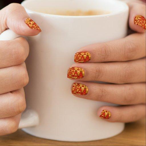 Orange Gold ZigZag Abstract Minx ® Nail Art