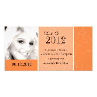 Orange Graduation Photo Card
