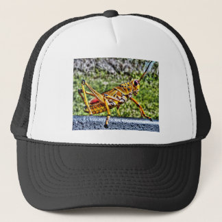 Orange Grasshopper Trucker Hat