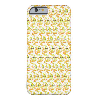 Orange Green & Black Floral Pattern- iPhone 6 Case Barely There iPhone 6 Case