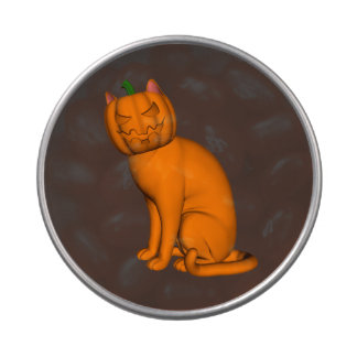 Orange Halloween Cat Jelly Belly Candy Tins