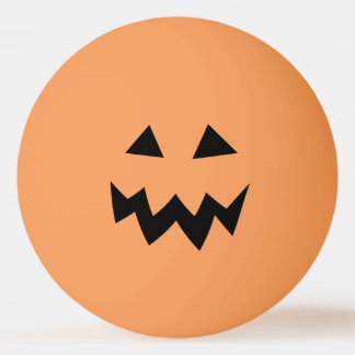 Orange Halloween pumpkin head carve ping pong ball