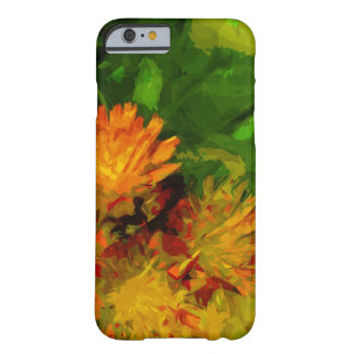 Orange Hawkweed Blossoms Abstract Impressionism Barely There iPhone 6 Case