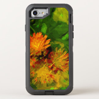 Orange Hawkweed Blossoms Abstract Impressionism OtterBox Defender iPhone 8/7 Case