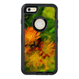 Orange Hawkweed Blossoms Abstract Impressionism OtterBox iPhone 6/6s Plus Case