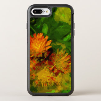 Orange Hawkweed Blossoms Abstract Impressionism OtterBox Symmetry iPhone 8 Plus/7 Plus Case