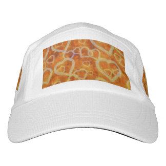 Orange Heart Template Texture Hat