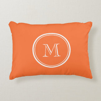 Orange High End Colored Monogrammed Accent Cushion