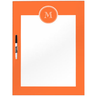 Orange High End Colored Monogrammed Dry-Erase Whiteboard