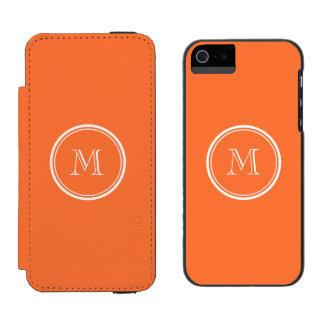 Orange High End Colored Monogrammed Incipio Watson™ iPhone 5 Wallet Case