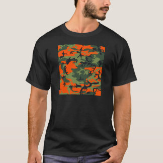 Orange Hunter Camo T-Shirt