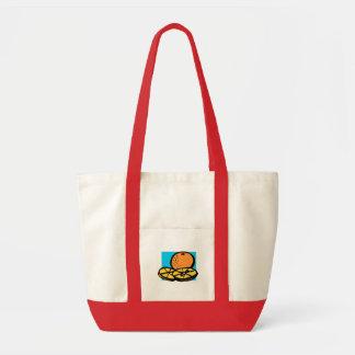 orange impulse tote bag