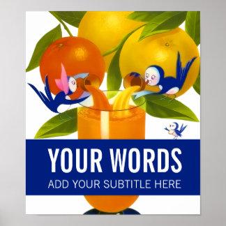 Orange Juice (Personalized) Poster
