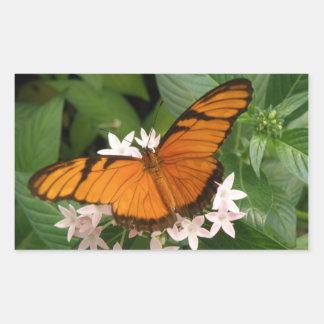 Orange Julia Butterfly Stickers