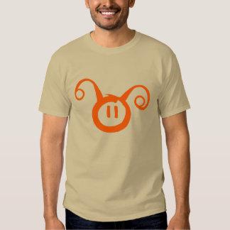 Orange/Light Brown Alien Smiley T-Shirt