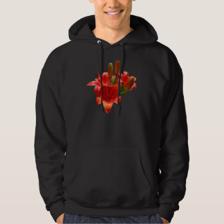Orange Lily Blossoms Hoodie