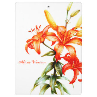 Orange Lily painting clipboard