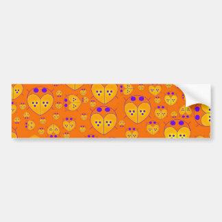 Orange Lovebugs Love bugs bumper sticker