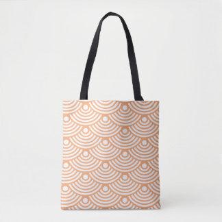 Orange Modern Waves Tote Bag