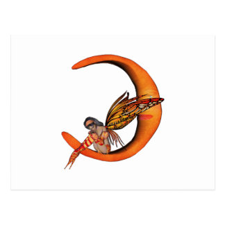 Orange Monarch Pixie Butterfly Fairy 5 - Postcard