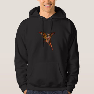 Orange Monarch Pixie Butterfly Fairy 7 - Hooded Pullovers