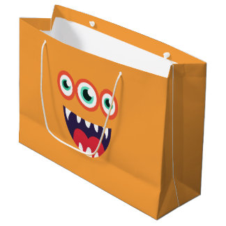 Orange Monster Large Gift Bag