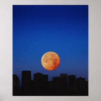 Orange Moon Print