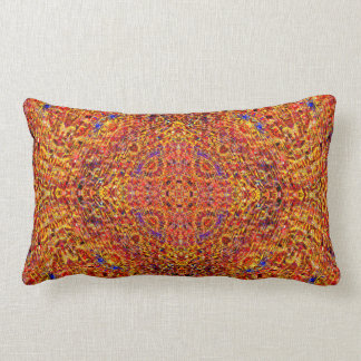 """Orange Mosaic Mandala 2"" Pillow"