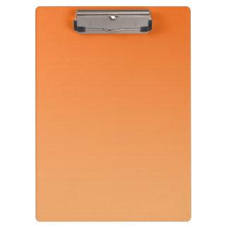 """Orange Ombre"" Clipboard"