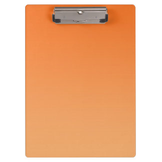 """Orange Ombre"" Clipboards"