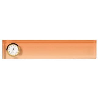 Orange Ombre Desk Nameplates
