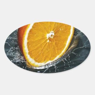 Orange Oval Sticker